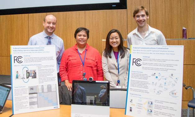 MITRE interns (left to right) Michael Tota, Minnie Buenaventura, Grace Yukawa and Andre Webster