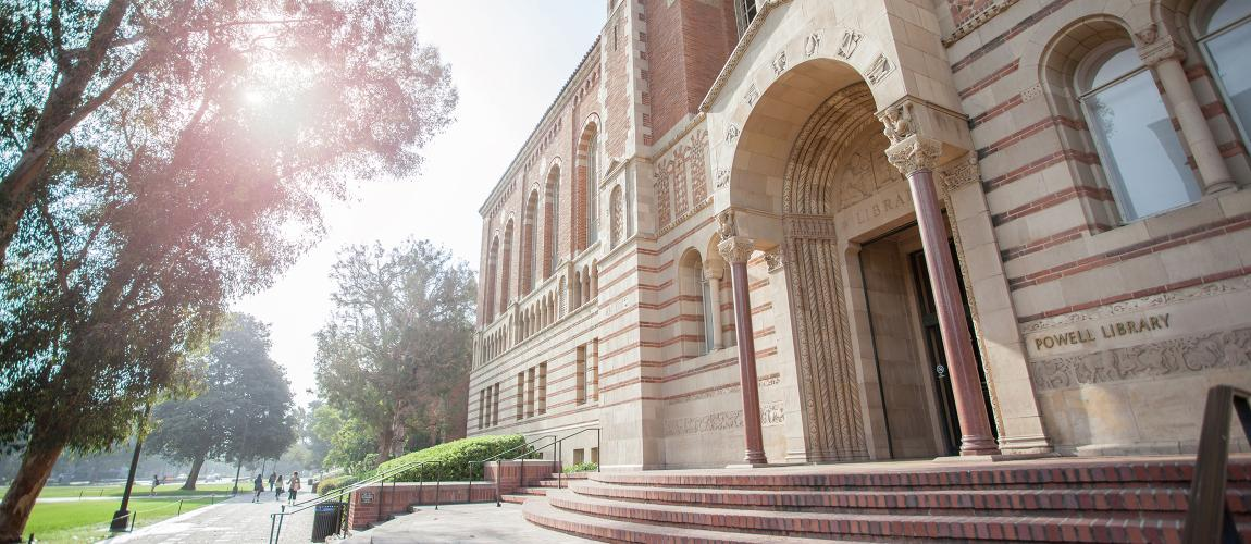 Powell Library at the University of California Los Angeles.