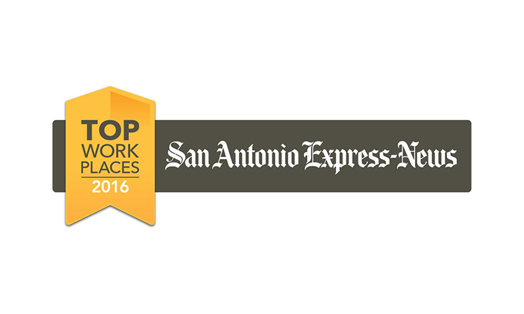 San Antonio Express-News Top Workplaces list for 2016 logo