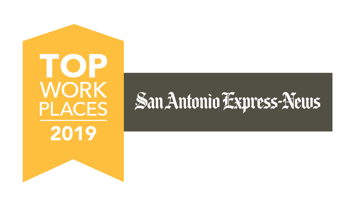 San Antonio Express News Top Work Places logo.