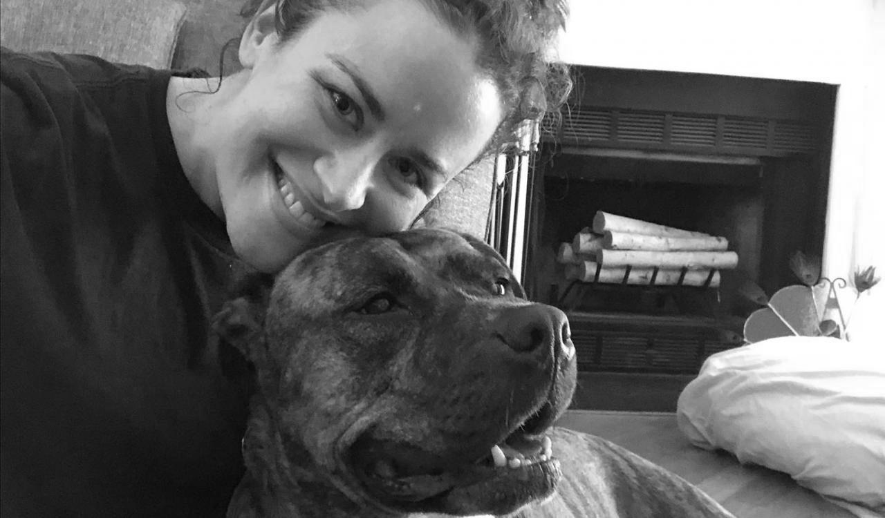 MITRE employee Katie Murrary and her dog Sable