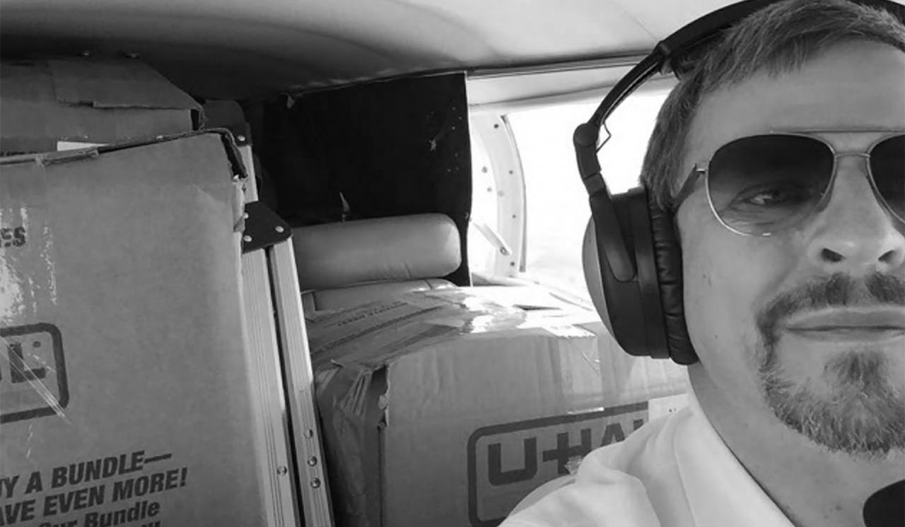 Dale Swanson uses his Cessna to transport COVID-19 supplies.