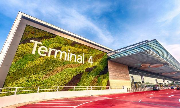 Terminal Four of the Changi Airport in Singapore