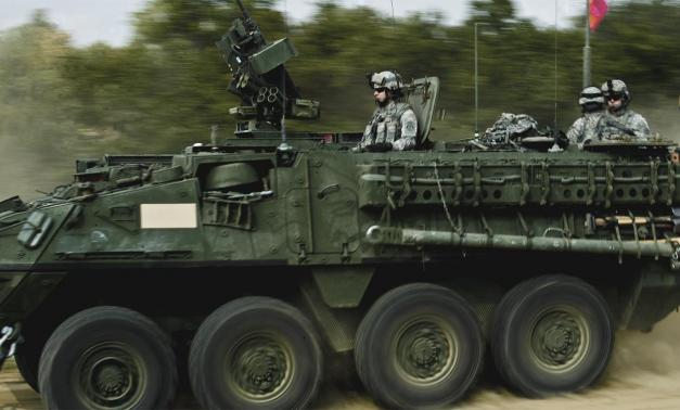 Army Stryker vehicle.