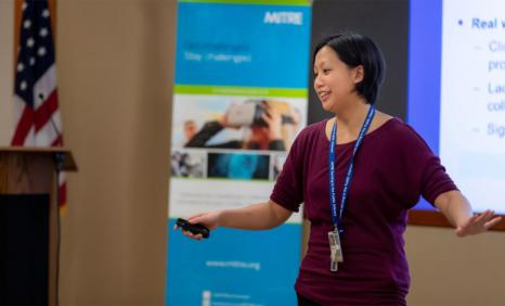 Software engineer Nicole Ng speaking