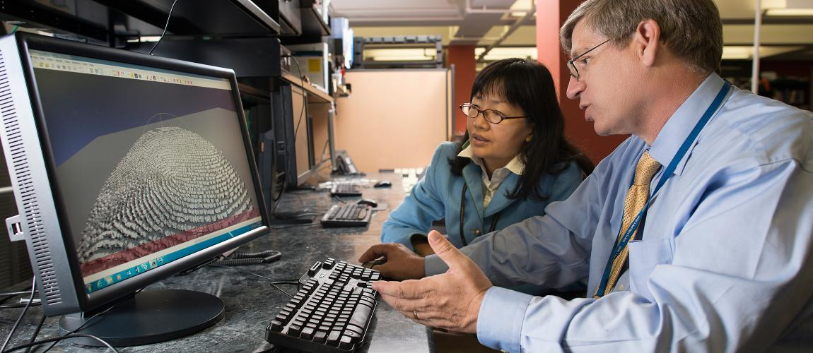 Chongeun Lee and Keith Browning discuss MITRE's biometrics research program.