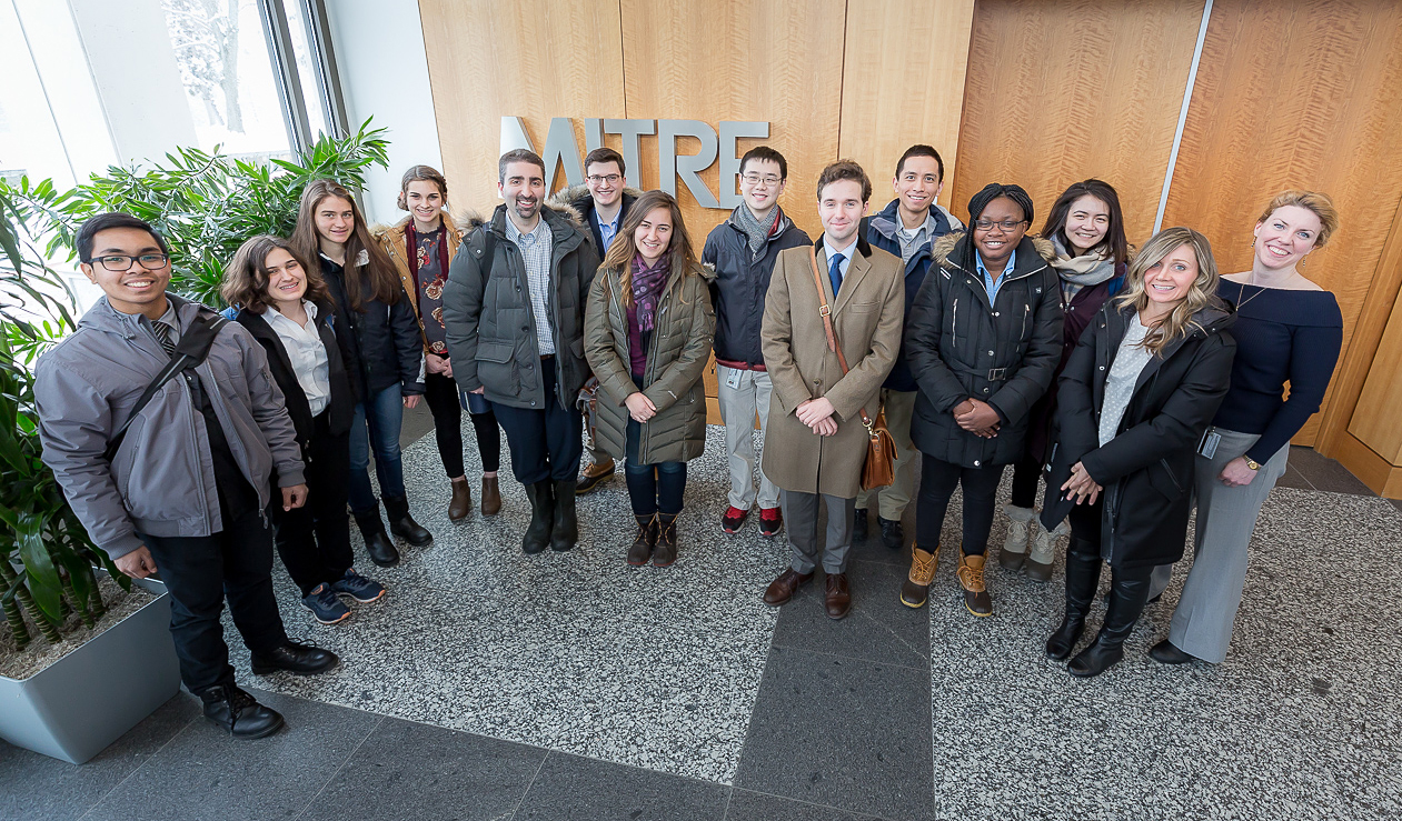 College students visiting MITRE